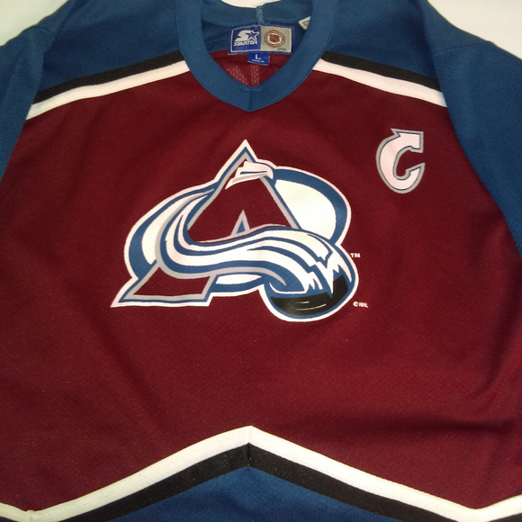 new styles 56603 c767e Joe Sakic Starter Jersey Colorado Avalanche